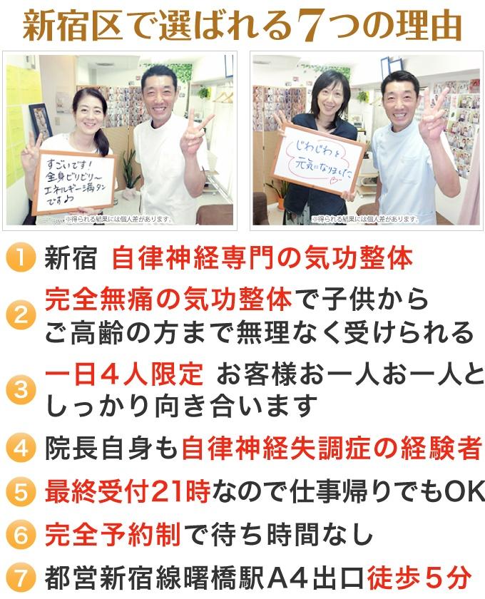 新宿で選ばれる7つの理由